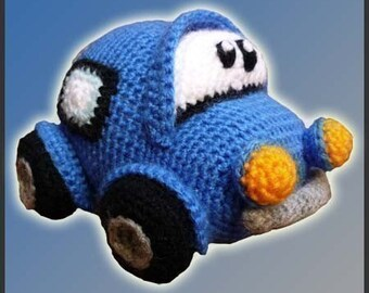 Amigurumi Pattern Crochet Little Car DIY Digital Download