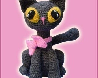 Amigurumi Pattern Crochet Jinxy Kat Cat Kitten Doll DIY Digital Download