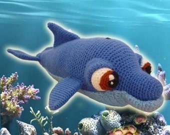 Amigurumi Pattern Crochet Bottlenose Dolphin DIY Instant Digital Download PDF