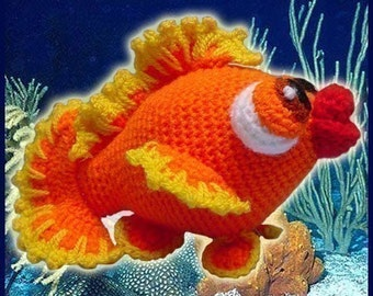 Amigurumi Pattern Crochet Bubbles Little Goldfish DIY Digital Download PDF