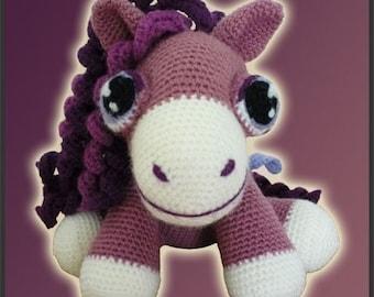 Amigurumi Pattern Crochet Heather Pony DIY Instant Digital Download PDF