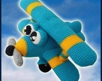 Amigurumi Pattern Crochet Ace Airplane DIY Digital Download