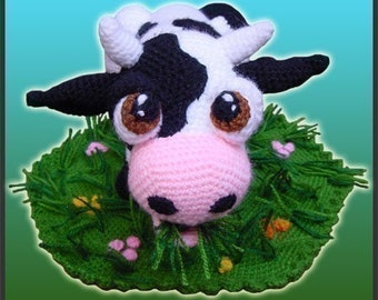 Amigurumi Pattern Crochet Aurora Cow Doll DIY Instant Digital Download PDF