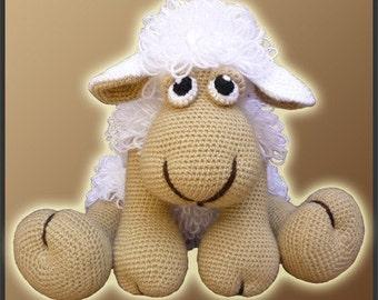 Amigurumi Pattern Crochet Elton Sheep Lamb Doll DIY Instant Digital Download PDF