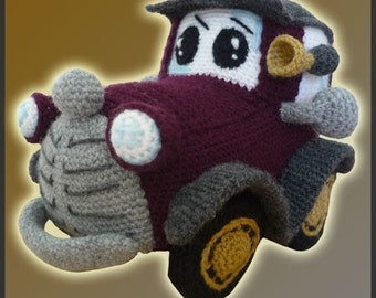Amigurumi Pattern Crochet Classic Car DIY Digital Download