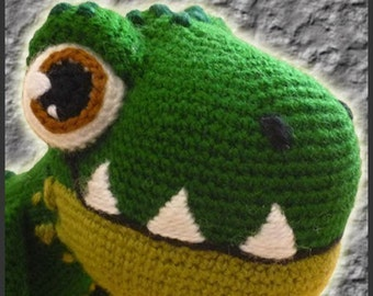 Amigurumi Pattern Crochet T-REX Dinosaur DIY Digital Download