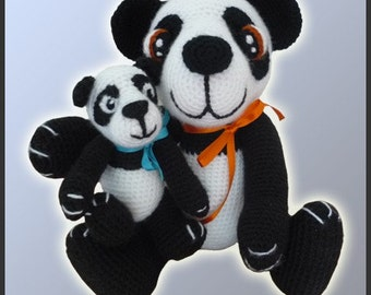 Amigurumi Pattern Crochet Panda Bears DIY Digital Download