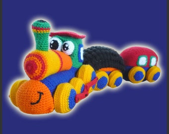 Amigurumi Pattern Crochet Happy Train DIY Digital Download