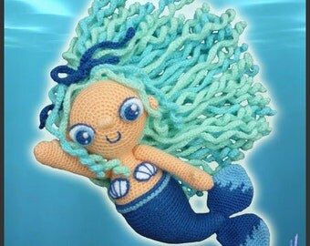 Amigurumi Pattern Crochet Aqua Mermaid DIY Digital Download