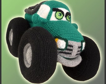 Amigurumi Pattern Crochet Monster Truck DIY Digital Download