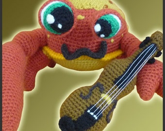 Amigurumi Pattern Crochet Niccolo Fiddler Crab DIY Digital Download