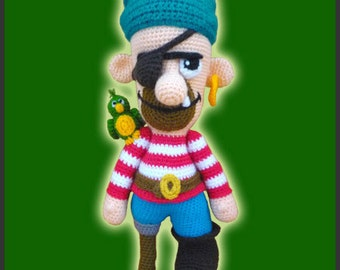Amigurumi Pattern Crochet Czornomaz Pirate Doll DIY Digital Download