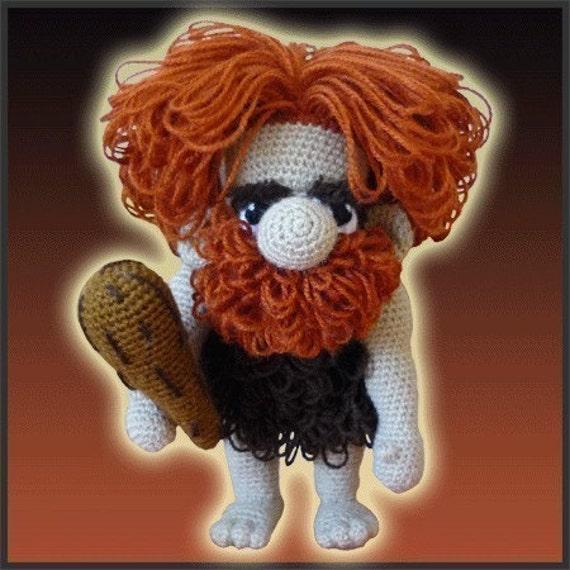 Amigurumi Pattern Crochet Unga Caveman Doll DIY Digital Download