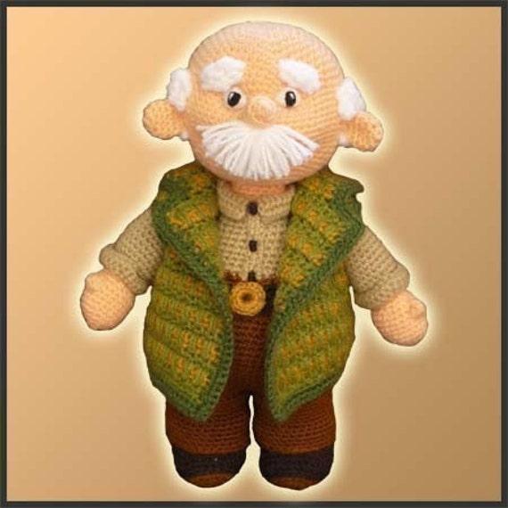 Amigurumi Pattern Crochet Grandpa by DeliciousCrochet on Etsy