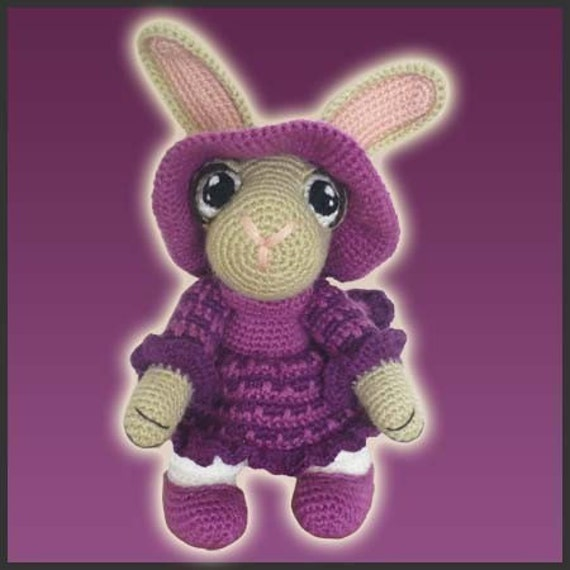 Amigurumi Pattern Crochet Rosie Rabbit Bunny DIY Instant Digital Download PDF
