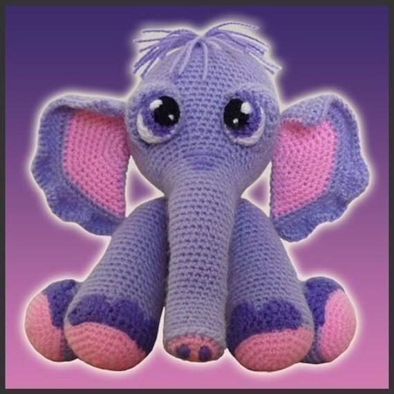 Amigurumi Pattern Crochet Gertie Elephant Doll DIY Instant Digital Download PDF