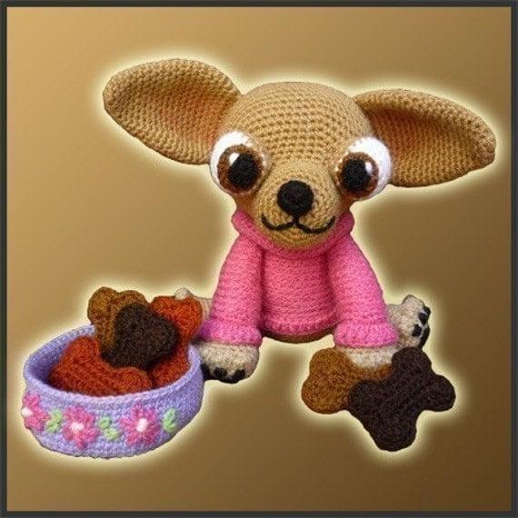 Patrón amigurumi Crochet - Lupita Chihuahua