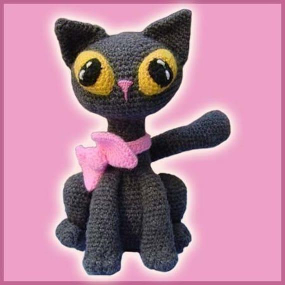 Amigurumi Pattern Crochet Jinxy Kat Cat Kitten Doll DIY Instant Digital Download PDF