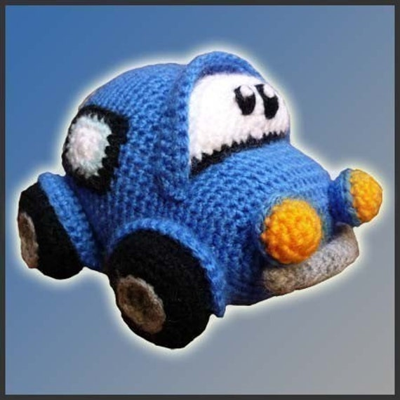 Amigurumi Pattern Crochet Little Car DIY By DeliciousCrochet