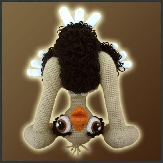 Amigurumi Pattern Crochet Olga Ostrich Bird DIY Instant Digital Download PDF
