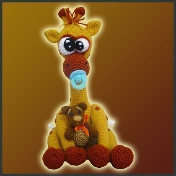 Amigurumi Pattern Crochet Baby Giraffe and Bear DIY Digital Download