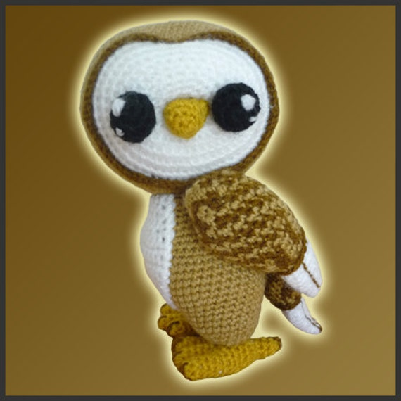 Amigurumi Pattern Crochet Barn Owl by DeliciousCrochet on Etsy
