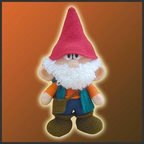 Amigurumi Pattern Crochet Garden Gnome Doll DIY Instant Digital Download PDF