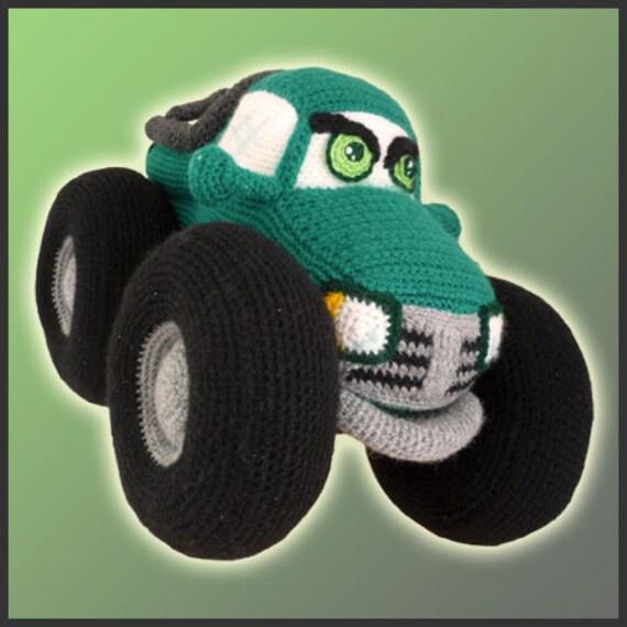 Amigurumi Pattern Crochet Monster Truck DIY Instant Digital Download PDF