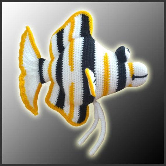 Angel Fish Amigurumi Pattern : Amigurumi Pattern Crochet Angelo Angel Fish DIY Digital ...