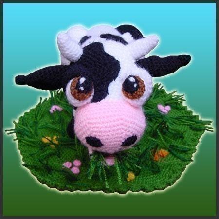Amigurumi Pattern Little Cows : Amigurumi Pattern Crochet Aurora Cow Doll DIY Instant Digital