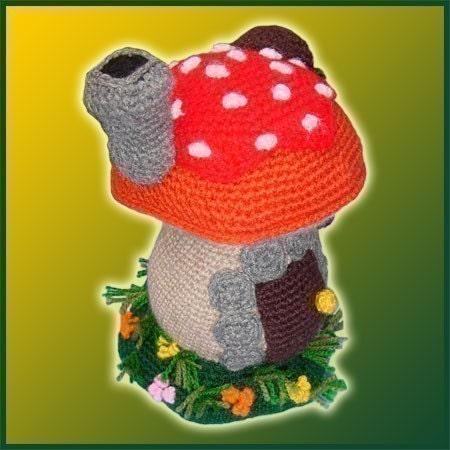 Free Kawaii Amigurumi Pattern : Amigurumi Pattern Crochet Mushroom House DIY by ...