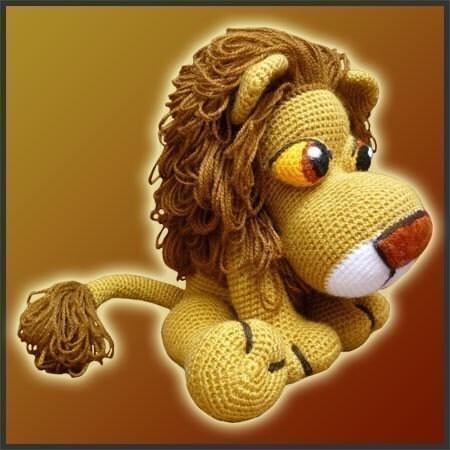 Uncinetto amigurumi pattern leonidas leone di deliciouscrochet for Uncinetto digitale