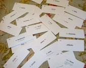 Lot of 25 French Vocabulary Flash Cards