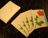 5 Vintage Join Us Roses Invitations