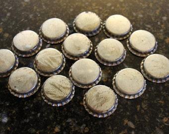 Lot of 15 Vintage Plain Top/Cork Back Bottlecaps