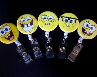 SPONGEBOB FACES Retractable Badge Reel