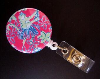 ROCK A HULA MONKEY Retractable Badge Reel