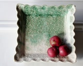Square Serving Dish with Swirl Pattern  Great for Entertaining and for Display