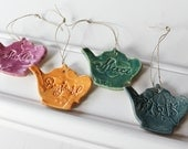 French Country Hanging Teapots / Set of 4