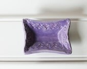Wee Rectangular Dish - Perfect for Rings, a Teabag or Coins / Soft Lilac