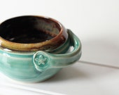 Chili Crock or Soup Bowl //  ready to ship // holds 12 oz
