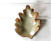 Large Textured Leaf Dish