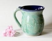 Highly Textured Ceramic Mug Holds 12 ounces - Ready to Ship