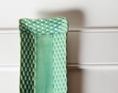 Rectangular Serving Dish Handmade Pottery with Basket Weave Design