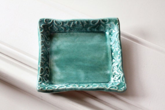 One Square Pottery Dish