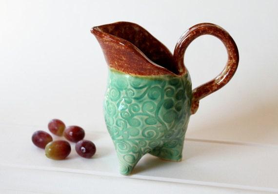 Tripod Creamer //  Ceramic Pitcher