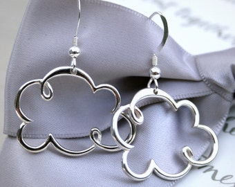 Sterling Silver Cloud earrings