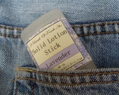 Lavender Natural Solid Lotion Stick Deep Conditioning Handmade