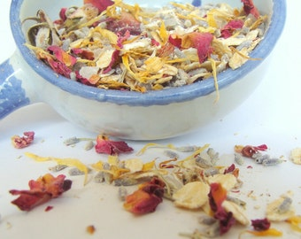 Bath Tea Soak, Pick Own Scent,  Botanical Sea Salt Bath, Organic Natural Vegan Sachet Drawer,  Spa Gift, Wedding Shower, Bridal Party Gift