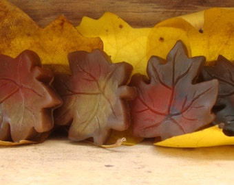 Fall Soap Leaves Scented Set of 3 Leaves and 3 Acorns Hostess Guest Wedding Favors